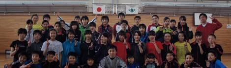 東北ジュニア合宿(盛岡・国立岩手山青少年交流の家)