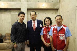 秋田県連盟会長の金田先生が来られました